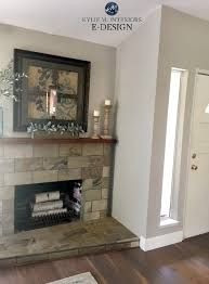 sherwin williams collonade gray with slate tile fireplace best greige paint colour kylie m interiors edesign paint color consulting