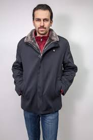men s microfiber jacket shearling lining 6677