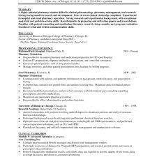 Retail Pharmacist Cv Sample Pdf Clinical Pharmacysume Fredsumes