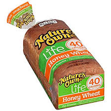 nature s own 40 calorie honey wheat bread