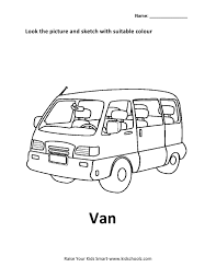 Coloring Picture Van: Van colouring pages.