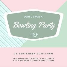 Email Invitations New Customize 44 Bowling Invitation Templates Online Canva