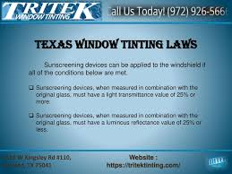 Texas Light Laws Welcome To Tritek Window Tinting Ppt Download