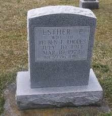 Esther Priscilla Wenger Rhodes (1913-1973) - Find A Grave Memorial