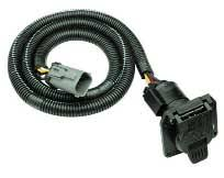 trailer hitch 5, 6 & 7 way electrical wiring adapters by draw tite 2007 Toyota Highlander Trailer Wiring Harness 1997 02 ford f 150 & f 250 light duty pickups (upgrades from oem 4 flat to 7 way wiring) 2010 toyota highlander trailer wiring harness