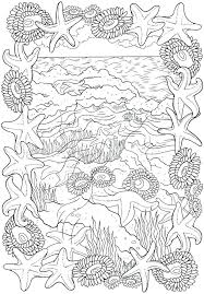 Ocean Scene Coloring Pages Free Printable Ocean Scene Coloring Pages