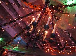 halloween party lighting. he hooked up all the lighting to halloween party t