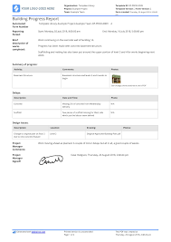 Production Reporting Templates Free Building Construction Progress Report Sample Customisable