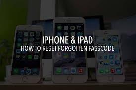 Reset Iphone Ipad Passcode Forgot Password On Ios P T It