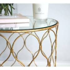 antique gold side table finish round accent