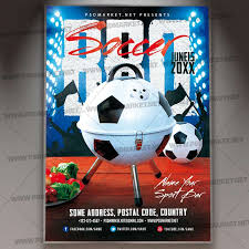 Barbecue Flyers Soccer Barbecue Flyer Psd Template