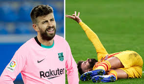 Watch: Barcelona's Pique facing months out injured after freak collision