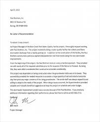 Work Recommendation Letter 9 Work Recommendation Letter Template 10 Free Word Pdf Format