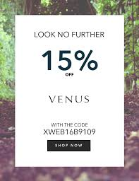 15 off promotion code items venus times