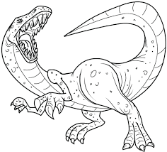 Small Picture Dinasaur Coloring Pages Dinosaur In Love Coloring Page Dinosaur