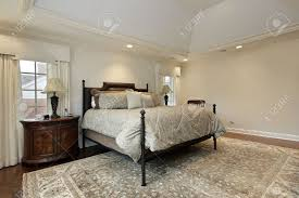 Exceptional Master Bedroom In Luxury Home With Tray Ceiling Stock Photo   10537584