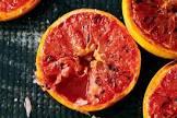 broiled pink grapefruit