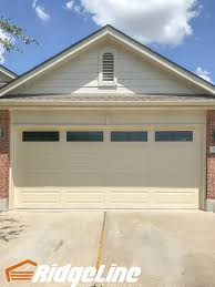 Garage Door overhead garage doors photos : 16x7 Amarr Stratford 3000, Long Panel, Almond, Americana Glass ...