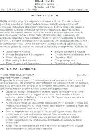 Property Manager Resume Property Management Resume Regional Property