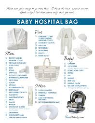 list of items needed for baby bags entrancing the ultimate hospital bag checklist baby chick