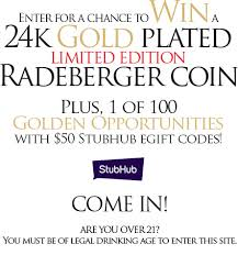 stubhub gift card best of radeberger gold standard instant win game you could win a