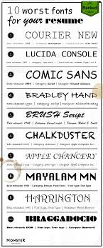 Fonts To Use For Resumes Worst Resume Fonts Monster Com