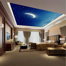 starry night pub and bar ceiling murals wallpaper living room ...