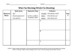 How To Make A Character Chart Character Chart By Erika Hanusch Teachers Pay Teachers