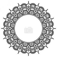 Vektorová Grafika Mehndi Indická Henna Tetování Vzor Nebo Pozadí