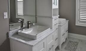 image of clean carrera marble countertops