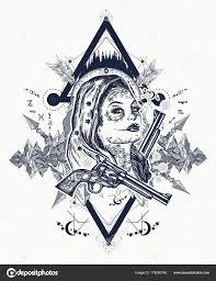 мексиканской уголовной тату искусства футболку дизайн дикий запад