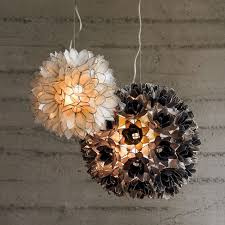 wonderful lighting accessories with lotus capiz chandelier incredible picture of decorative white and black flower