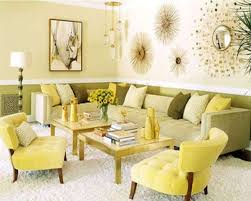 Living Room: Living Room Decor Ideas In Green And Beige Theme With ...
