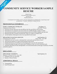 Community Service Worker Resume Sample Http Resumecompanion Com