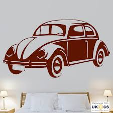 beetle car cool retro vintage wall art stickers