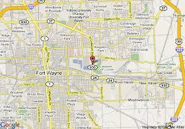 map of coliseum inn, fort wayne Ft Wayne Indiana Map coliseum inn map fort wayne indiana map