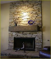 stone tile fireplace surround