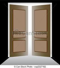 open double doors clipart.  Doors And Open Double Doors Clipart
