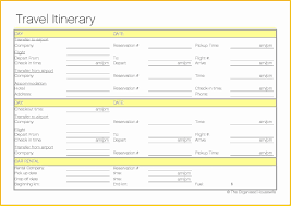 Travel Trip Planner Trip Itinerary Planner Template Fresh Free Printable Travel