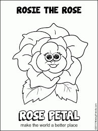daisy girl scout petals colouring pages