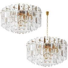two kalmar flush mount or pendant lights palazzo gilt brass and glass 1970 for at 1stdibs