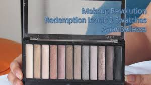makeup revolution redemption iconic 2 swatches