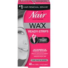 nair wax ready strips hair remover for face 40 ct box walmart