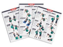 Ultrafit Stability Ball Training Charts