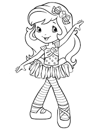 Strawberry Shortcake Coloring Page More