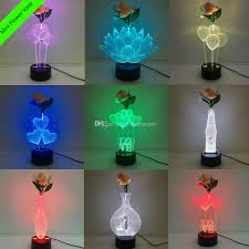 2019 3d Led Lamp Mixed Designs With Decoration Flower Dc 5v Usb
