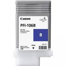 <b>Canon</b> LUCIA EX <b>PFI</b>-<b>106B 130</b>-ML <b>Blue</b> Ink Cartridge
