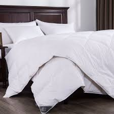 puredown lightweight white down comforter light warmth duvet insert 100 cotton 550 fill power twin size white com