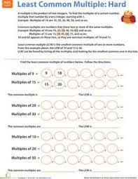 Least common multiple, Worksheets and Free worksheets on PinterestWorksheets: Least Common Multiple: Hard