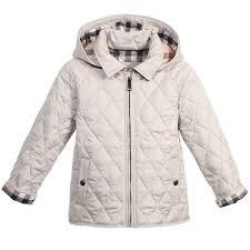 Burberry - Boys Beige Quilted Jacket with Hood | Childrensalon &  Adamdwight.com